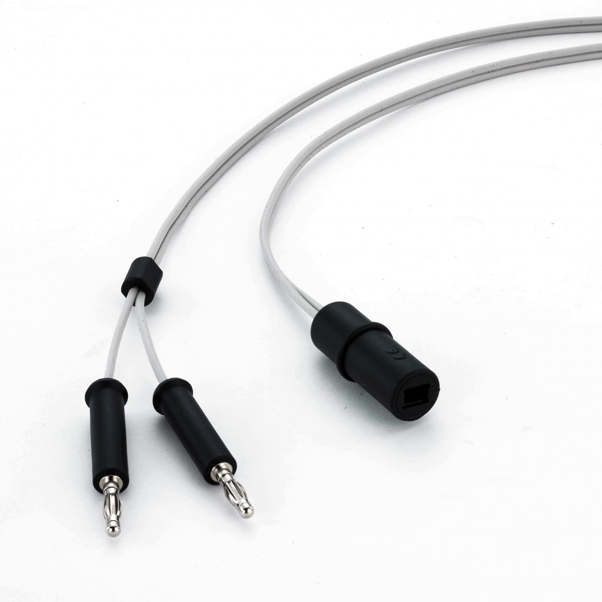 Reusable Bipolar Cable, 4mm Banana Plugs + European Forceps Socket